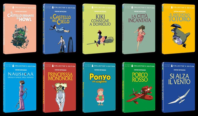 Studio Ghibli in steelbook